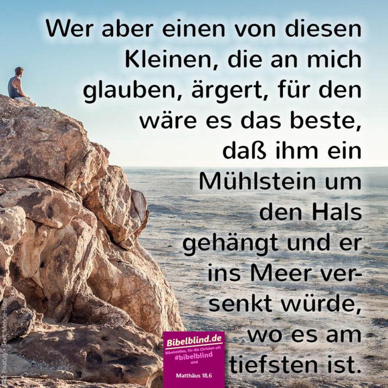 #bibelblind Meme Nr. 1082: Matthäus 18,6