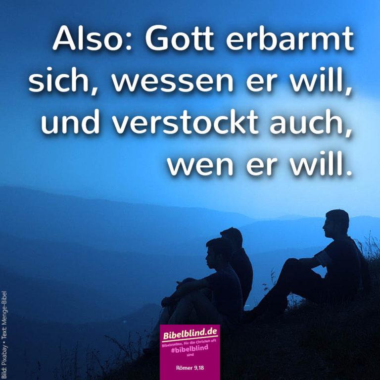 #bibelblind Meme Nr. 1086: Römer 9,18