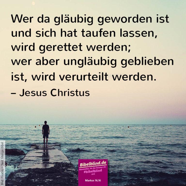 Bibelblind-Meme Nr. 1103: Markus 16,16